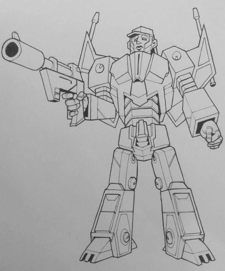 Dominus Prime, line art