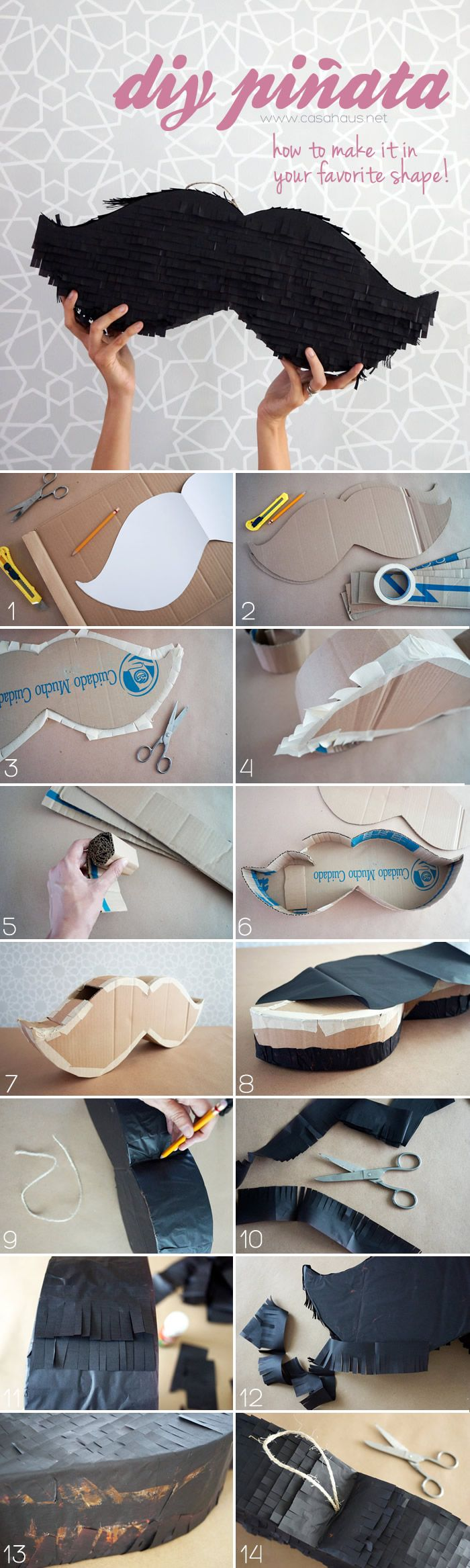 DIY piñata: How to make a piñata in any shape you want / Cómo hacer una piñata paso a paso y de la forma que quieras - Casa Haus Decoracion