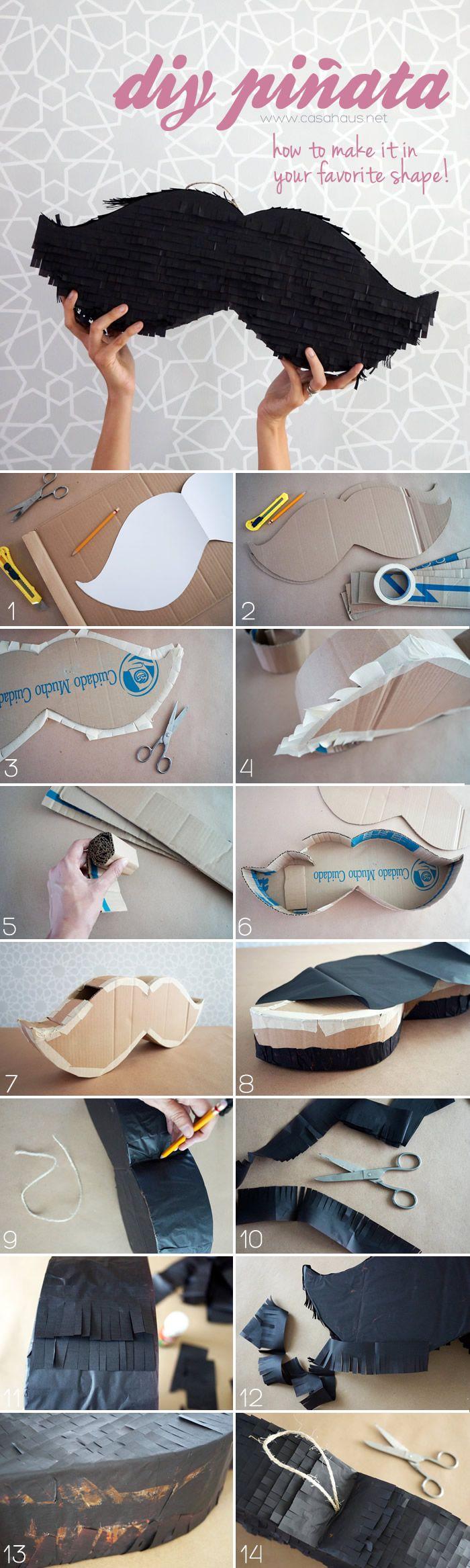 DIY piñata: How to make a piñata in any shape you want / Cómo hacer una piñata paso a paso y de la forma que quieras - Casa Haus Decoracion