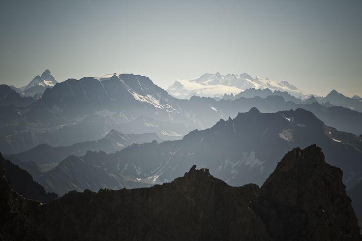 Veduta dal cantiere delle Nuove Funivie del Monte Bianco in Valle d'Aosta, Luca Benedet