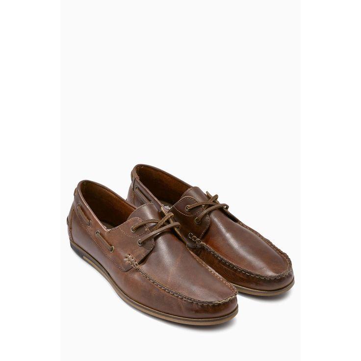 Chaussures bateau chic en cuir homme Next.