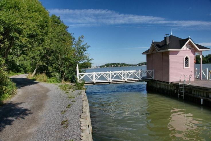 Ihastuttava uimahuone. Ruissalo. Turku.