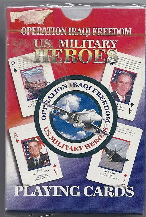 "MILITARY ""OPERATION IRAQI FREEDOM"" PLAYING CARDS "" IRAQI MILITARY RANKS"" 2 DECKS"
