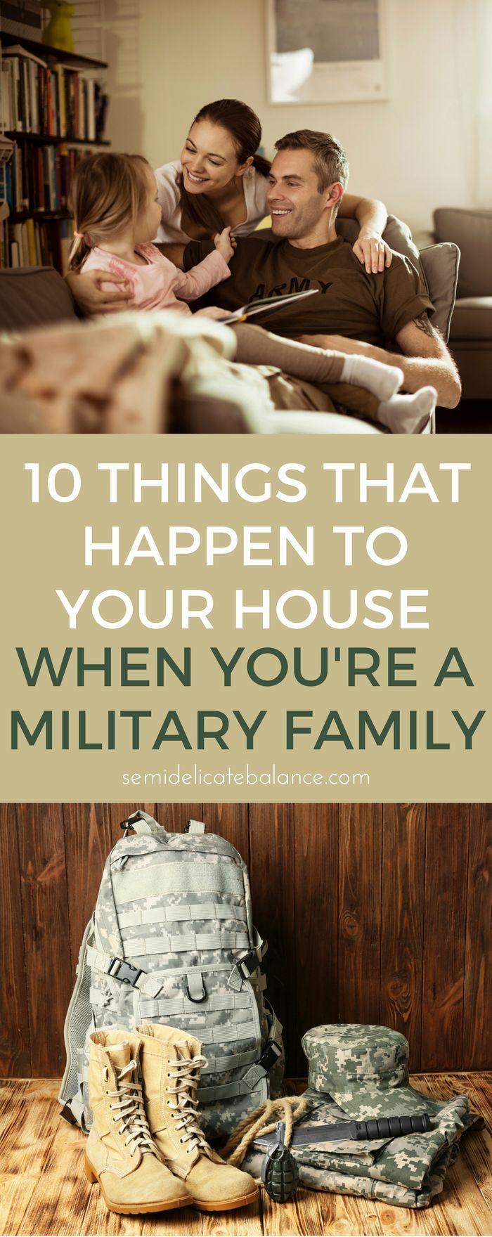 things that happen to your military home when you're a military family. It definitely affects your decor choices and ideas