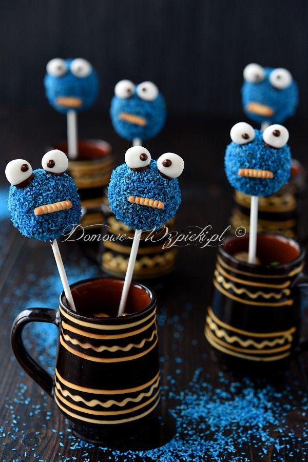 Cake pops ciasteczkowy potwór