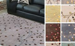 Area Rugs 10 X 14 Hand Tufted Sakura Branch Floral Wool Area Rug (7'6 X 9'6