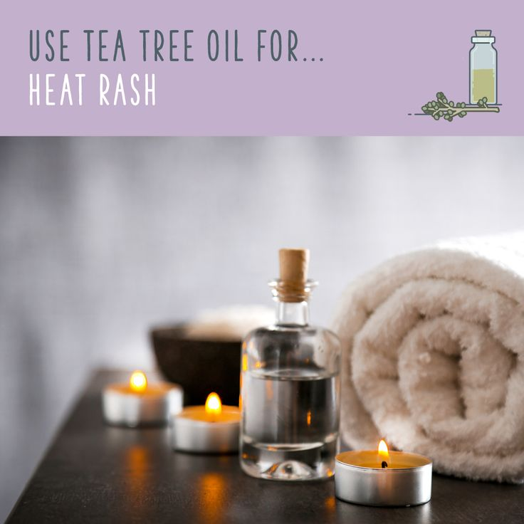 Tea Tree Oil For Heat Rash  Heat rash is caused by sweat trapped underneath the…