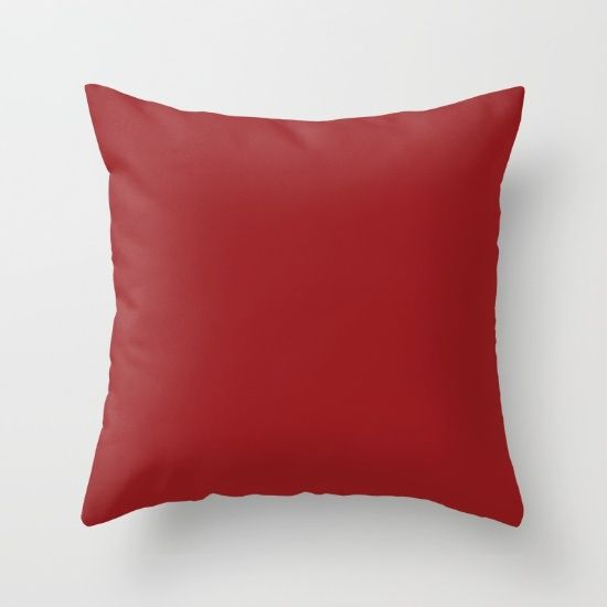 Carmine Red Throw Pillow