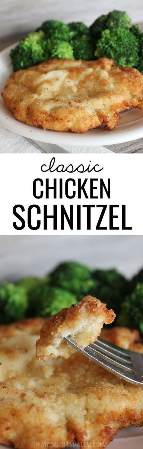 .~This classic chicken schnitzel cannot be beat! Such a yummy dinner option the whole family will love~.