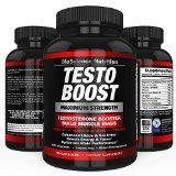 TESTOBOOST Testosterone Booster Supplement | Potent & Natural Herbal Pills | Boost Men Muscle Growth Sex Drive Energy | Tribulus Horny Goat Weed Hawthorn Zinc Minerals | BioScience Nutrition USA Reviews