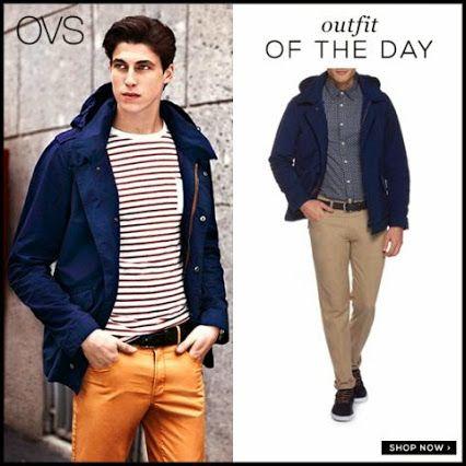 Scegli un look navy, con i pantaloni chino color senape e un giubbotto leggero OVS! http://bit.ly/1fAIJX1