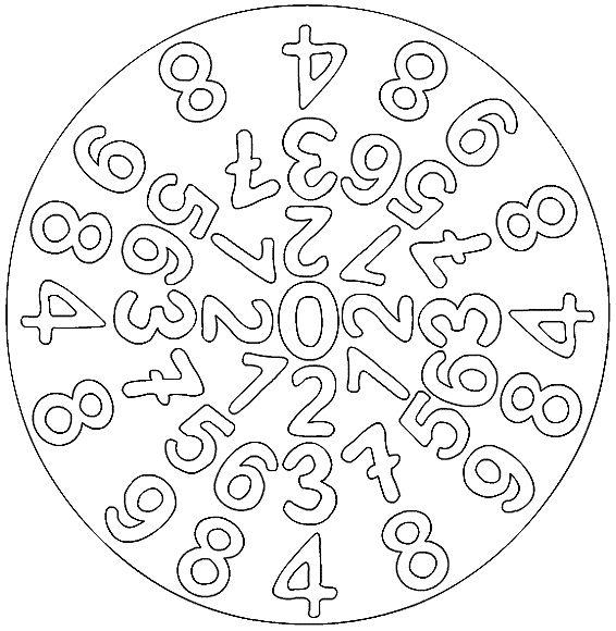 number mandala coloring page