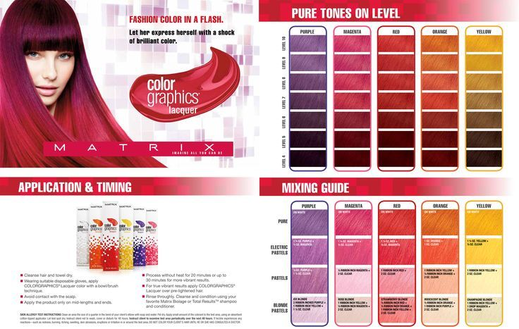 Matrix Color Graphics color chart