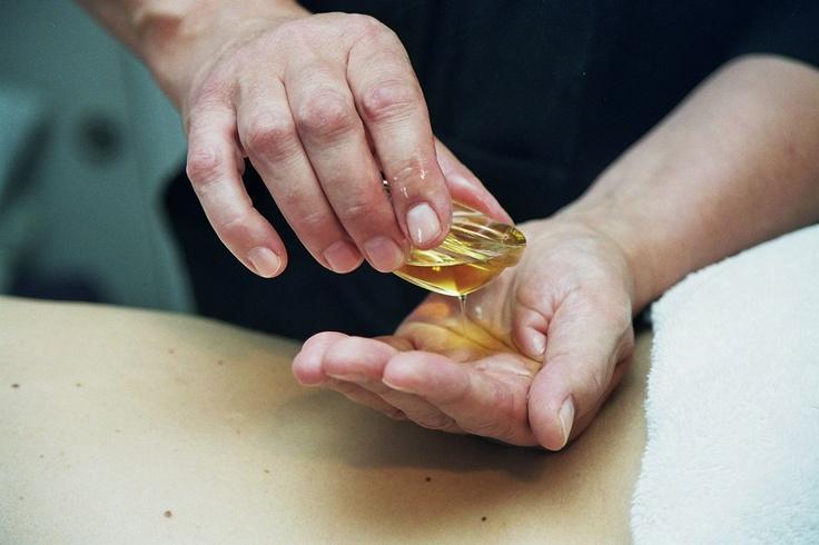 Heerlijke olie voor een massage