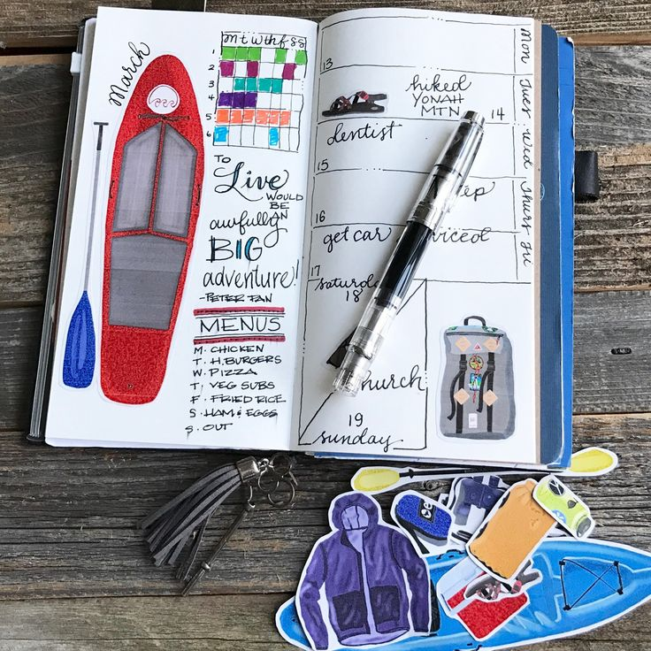 These stickers represent all my favorite things. If your an outdoorsy person add these to your planner!