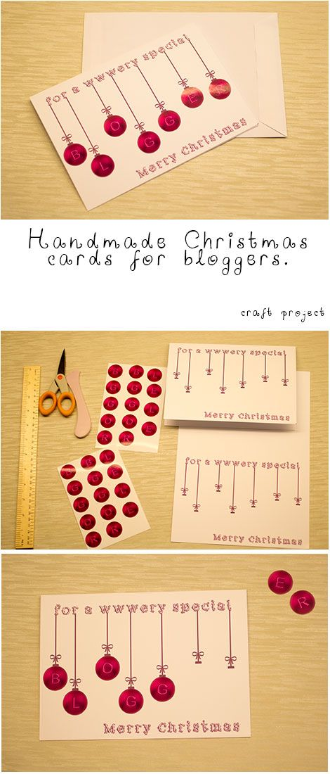 Handmade Christmas cards for bloggers with pictures and details
