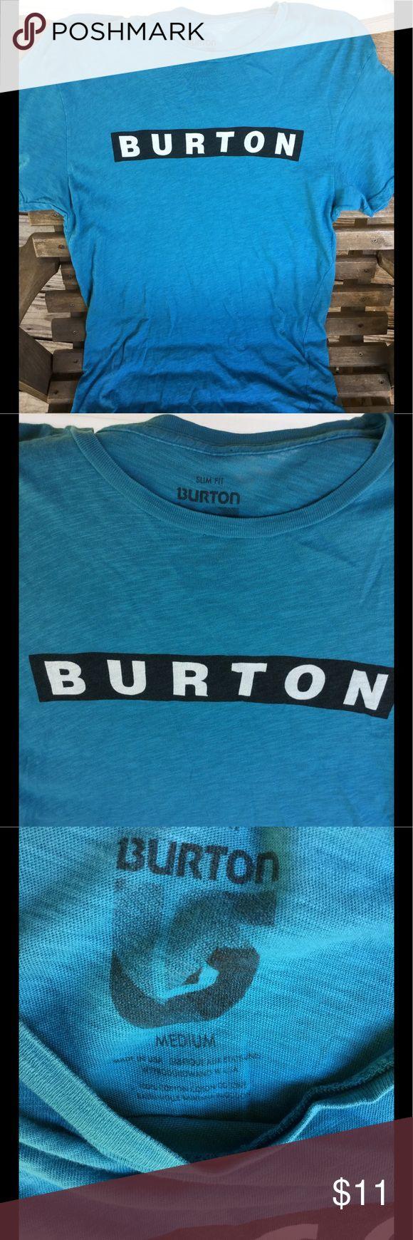 Burton tshirt medium Burton tshirt, blue, slim fit, medium Burton Shirts Tees - Short Sleeve