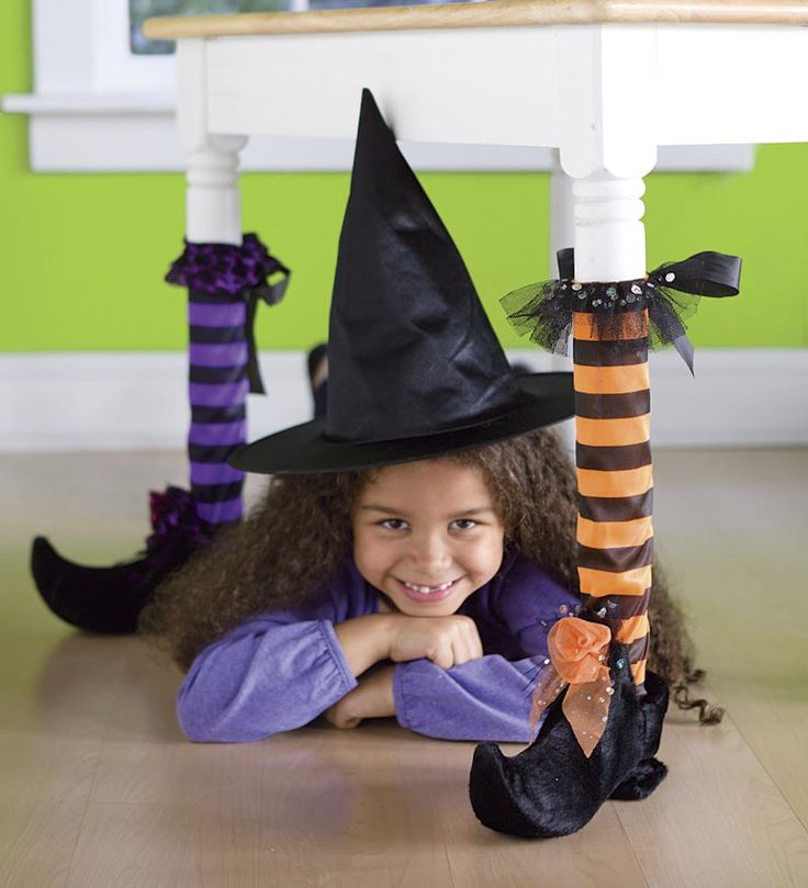 Halloween Decor Witch Table Leg Covers Halloween