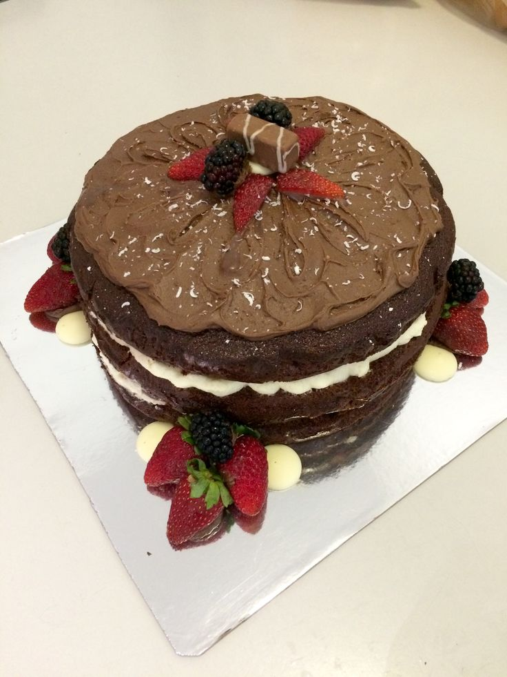 Black Forest piñata cake