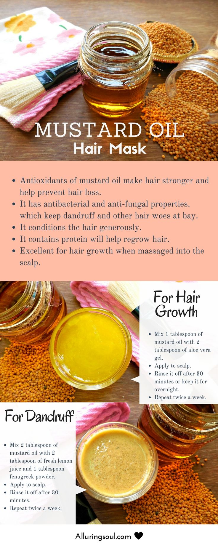 DIY Hair Mask Of Mustard Oil For Hair Growth And Dandruff