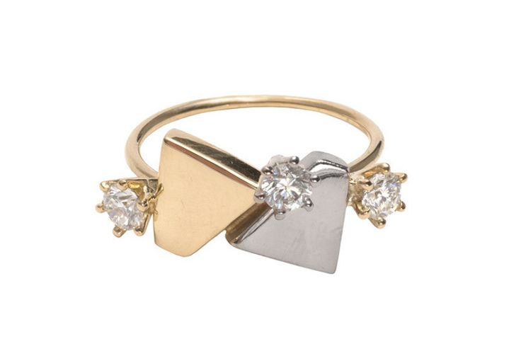 Modern, timeless pieces to pop the question with. Lucy Folk ring