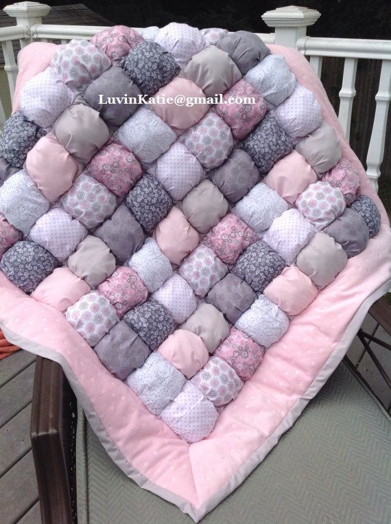 Bubble Quilt Puff Quilt Biscuit Quilt Custom Made to by LuvinKatie