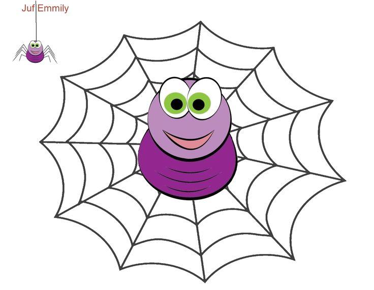 Plasticinekaart/ kleikaart: Thema Spinnen (Juf Emmily)