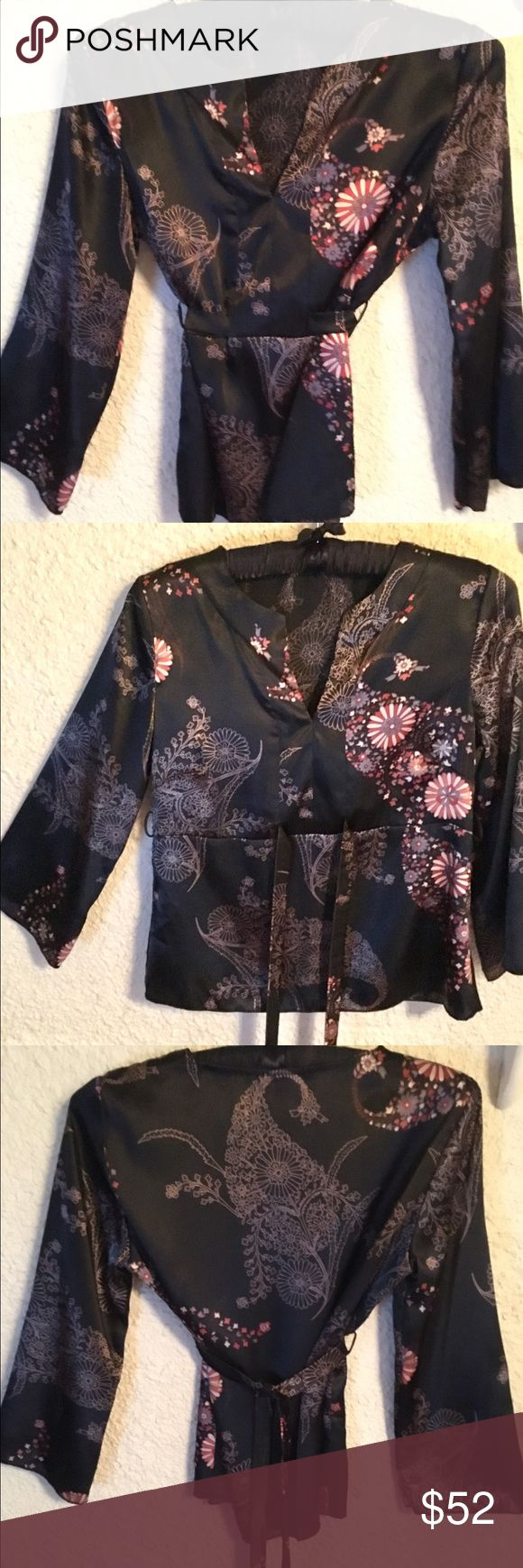 Anna Sui top Anna Sui silk top, missing tags otherwise like brand new. Anna Sui Tops Blouses