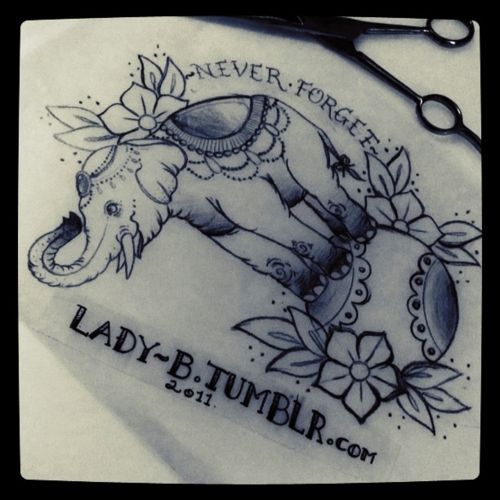 circus elephant tattoo | lady-b:Circus Elephant I started a week or so ago :)mmh, this reminds ...