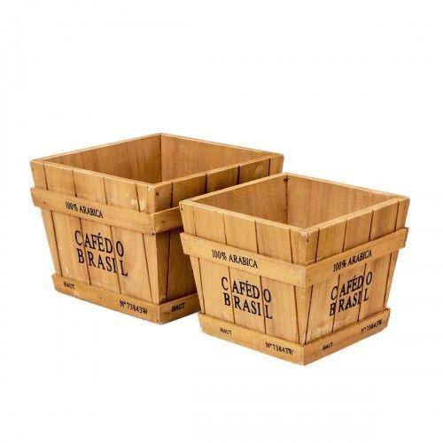Sentut | box kotak kayu hiasan pot vas bunga pajangan dekor interior design