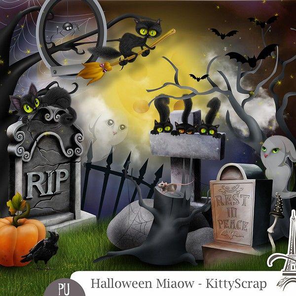 Le Blog de kittyscrap: ESSENTIEL : Halloween Miaow