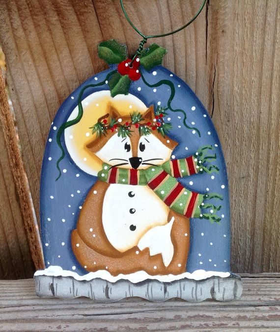 NEW 2016 Christmas Fox Ornament by CountryCharmers on Etsy