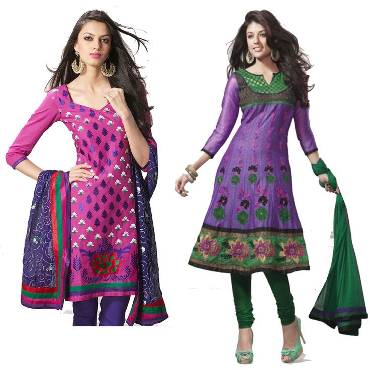 """""""Rejection is an opportunity for your selection."""" Pack of 2 #Cotton Designer #Salwaar Kameez"""