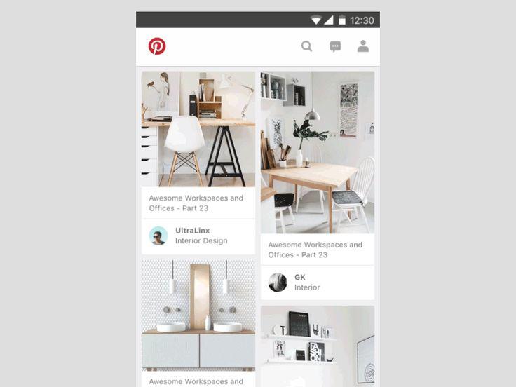 Pinterest Material Design Concept