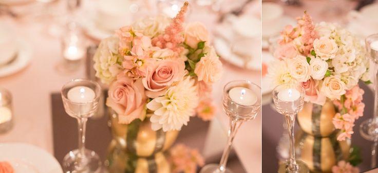 matrix hotel edmonton wedding photos blush and gold wedding decor studio bloom romantic reception decor
