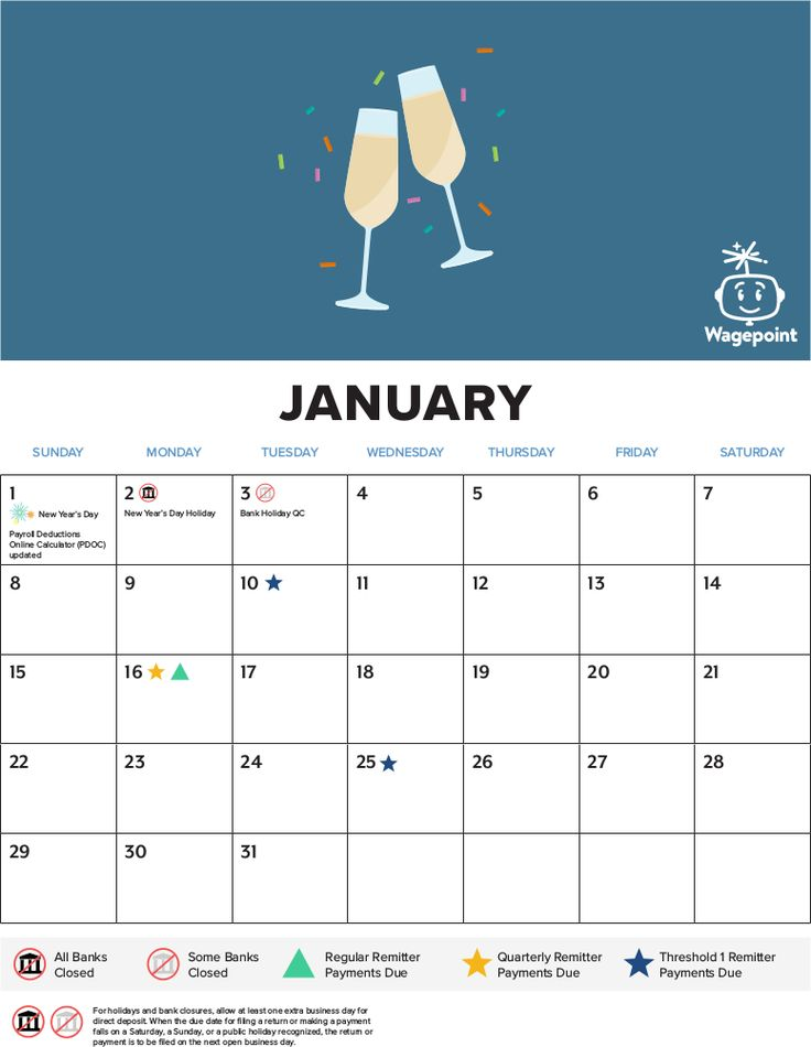The Best Annual Payroll Calendar for Canada . Click and save to make payroll less of a .. um..... pain.