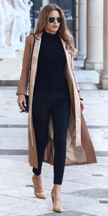 27 élégantes idées de tenue de col roulé pour rester dans le fashion pour l&#3…