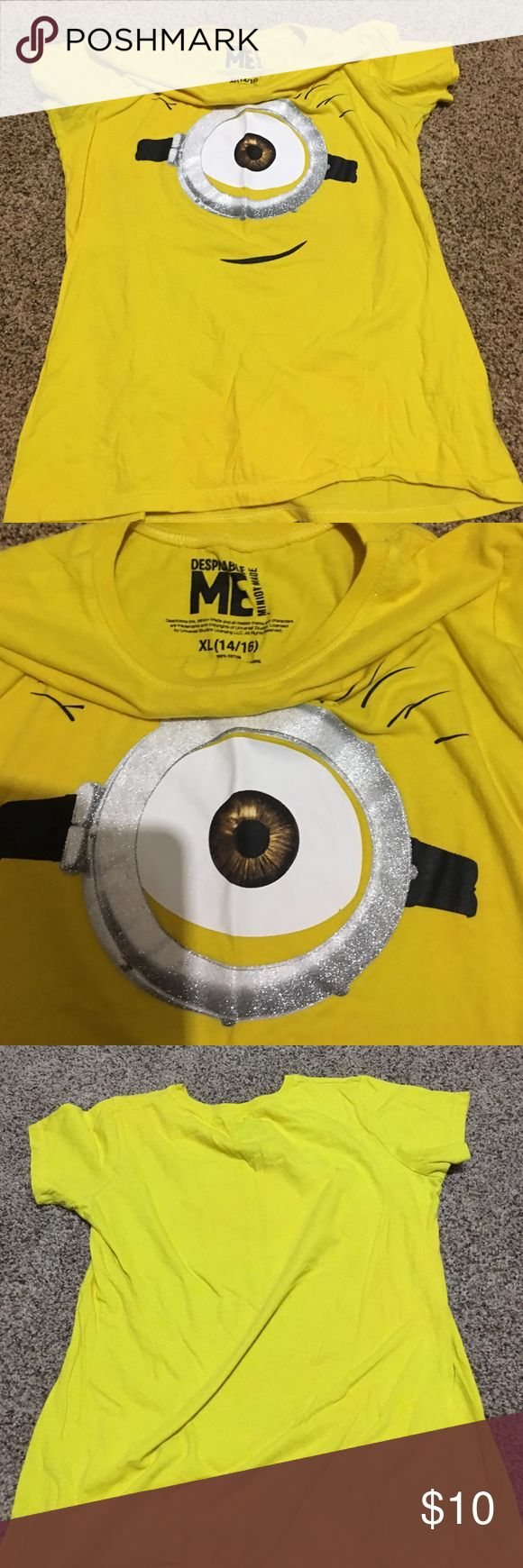Despicable Me Minion short sleeve shirt Youth XL Super Cute Despicable Me Minion Yellow Short Sleeve Shirt Size Junior XL or 14/16. Despicable Me Tops Tees - Short Sleeve