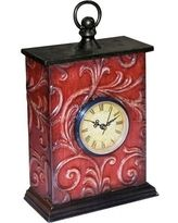 Embossed Vine Red Desktop Clock - 51-1167 ELI2082