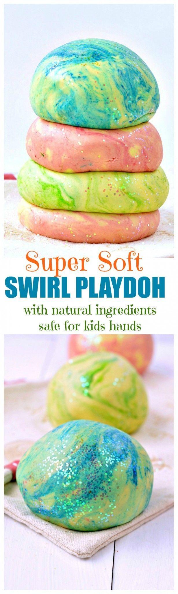 Multicolored playdough recipe
