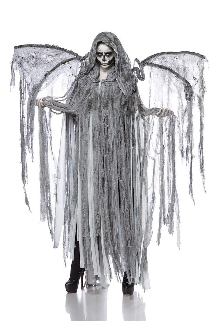 Horror Halloween Halloweenkostüm Damen Engel Tod Skelett Skelettkostüm Geist Geisterkostüm Todkostüm Grusel: Amazon.de: Spielzeug