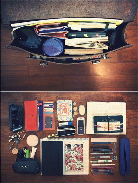 Inside my bag! by illhelpmiffy, via Flickr