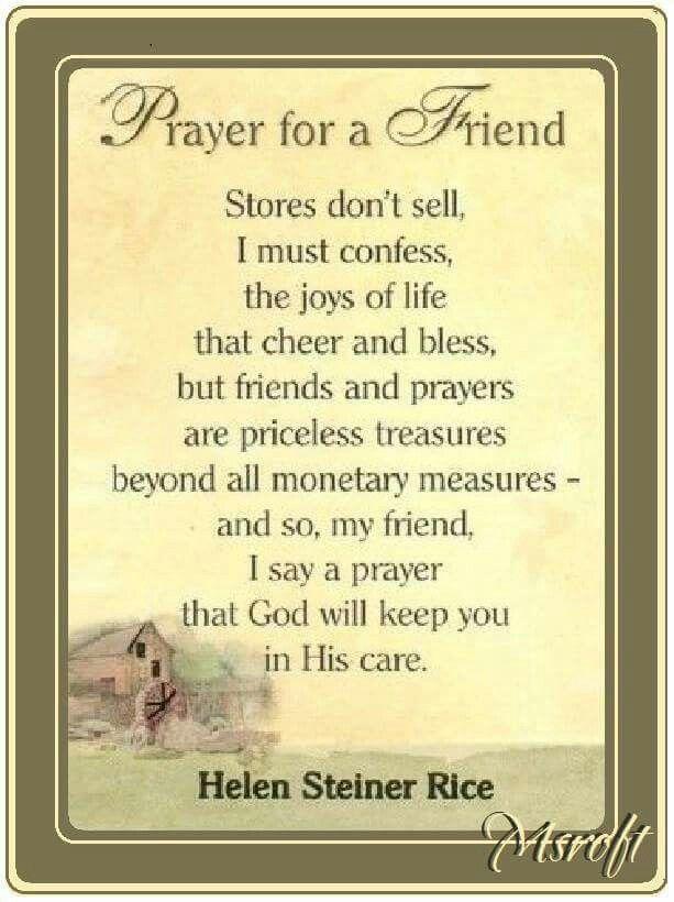 Prayer For A Friend Prayer For A Friend