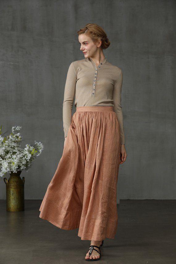 ddc1f6a00 maxi linen skirt, skirt, maxi skirt in latte, #clothing #women #skirt  @EtsyMktgTool #fullskirt #linenskirt #longskirt #skirts #ruffleskirt