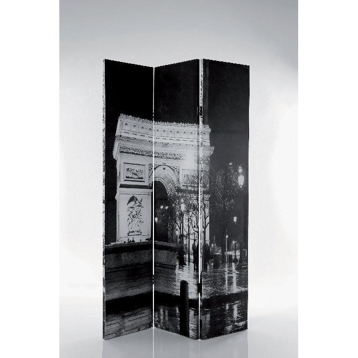 Παραβάν Ι Love Paris Το ιδανικό παραβάν που προσφέρει ιδιωτικότητα και ρομαντική ατμόσφαιρα με φόντο τον πύργο του 'ιφελ σε ασπρόμαυρη απόχρωση. Διπλής όψεως. Εκτύπωση σε καμβά.