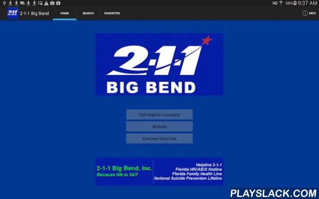 2-1-1 Big Bend  Android App - playslack.com , The 2-1-1 Big Bend app provides an immediate connection to more than 1,000 programs in the Big Bend, Florida area, covering Franklin, Gadsden, Jefferson, Leon, Liberty, Madison, Taylor, and Wakulla Counties. Users can find information about housing assistance, mental health issues, substance abuse, domestic violence, parenting skills, employment, food banks, disaster services, and more.Residents in the Big Bend area can call 2-1-1 or 850-617-6333…