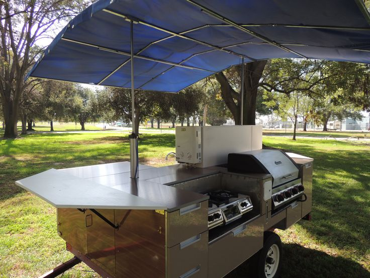 Tent camping made easy with this outdoor kitchen from for Outdoor camping kitchen ideas