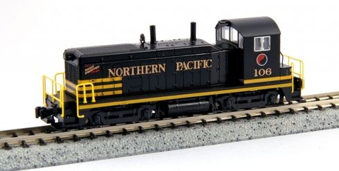 Model Trains Kato Northern Pacific Diesel Locomotive EMD NW2 176-4372 Cab No 106 N Scale