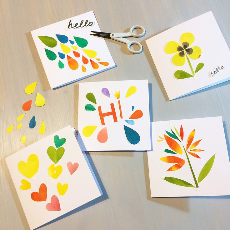 greeting cards diy cards collage card making card