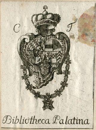 [Provenienz]: Hofbibliothek Mannheim (Kurfürst Karl Theodor von der Pfalz)